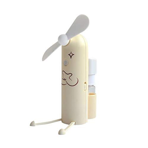 PKA - Ventilador de Mano con pulverizador para Botella de Agua y Aire Acondicionado (alimentación por USB, Soporte para teléfono móvil), Color Azul