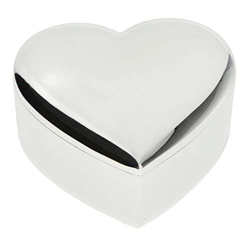 MagiDeal Caja de Regalo de de Lujo Caja de Anillo de Amantes Caja de Almacenamiento de Caja de Joyería con Pantalla de Perlas - Plata