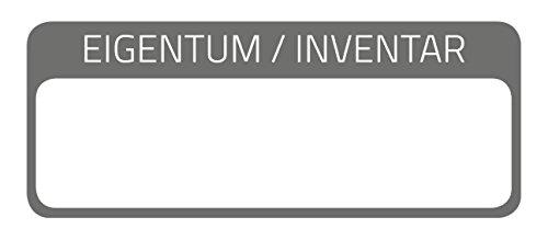 AVERY Zweckform 6901 laminierte Inventaretiketten (extrem stark selbstklebend, Kleinformat, 50x20 mm, 50 Aufkleber auf 10 Blatt) weiß/schwarz
