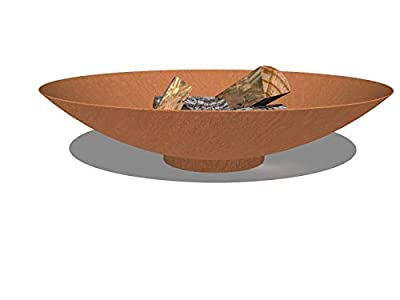 Floraselect Corten Steel Fire Bowl (60x14cm) by Adezz
