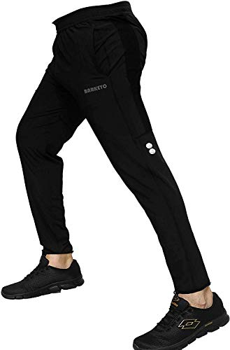BARKEYO Men's Slim Fit Trackpants (BK-NYK-D-M-35_Black_Medium)
