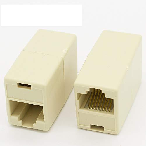 IMC Hot 10 piezas RJ45 8P8C conector de teléfono de doble puerto hembra