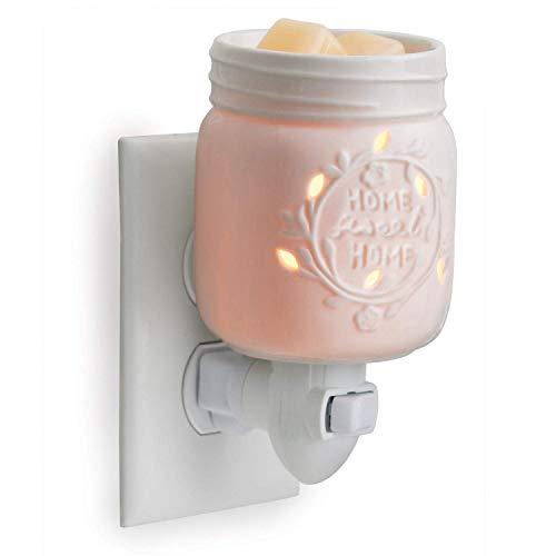 Candle Warmers elektrische Duftlampe für die Steckdose Mason Jar weiß aus Porzellan
