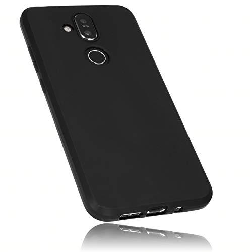 mumbi Hülle kompatibel mit Nokia 8.1 Handy Hülle Handyhülle, schwarz