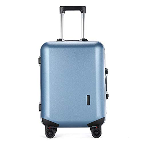 Luggage 20/22/24 Inch Trolley Case Men And Women Boarding Case Aluminum Frame Suitcase Universal Wheel Suitcase For travel and business trips (Color : C1, Size : 22inch)