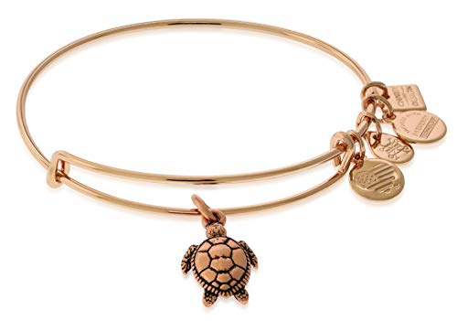 Alex and Ani Women's Sea Turtle ROG Bracelet, Shiny Rose Gold