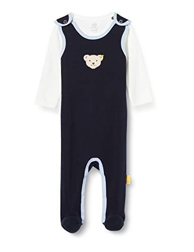 Steiff Baby-Jungen Set Strampler + Sweatshirt Bekleidungsset, Blau (Black IRIS 3032), (Herstellergröße:62)