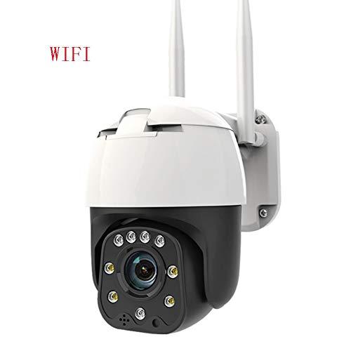 ZJ Telecamera IP di Sorveglianza HD 1080P Cloud IP di Sicurezza Domestica Intelligente HD Telecamera IP WiFi PTZ All'aperto Zoom Digitale 4X AI Rilevazione Umana Telecamera Wireless