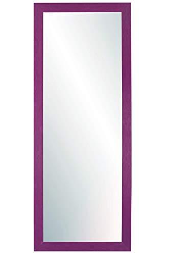 Chely Intermarket, Espejo de Pared Cuerpo Entero 35X100 cm(51,50x117cm)/Morado/Mod-146, Ideal para peluquerías, salón, Comedor, Dormitorio y oficinas. Fabricado en España. Material Madera.