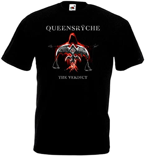 Queensrÿche The Verdict T Shirt Black Heavy Metal Black XL