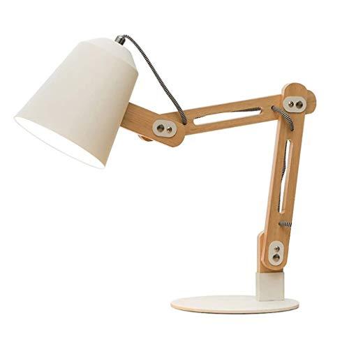 SPNEC Nórdico Minimalista lámpara de Escritorio, Ahorro de Energía Protección de los Ojos LED lámpara de Escritorio Aprendizaje Dormitorio lámpara de cabecera