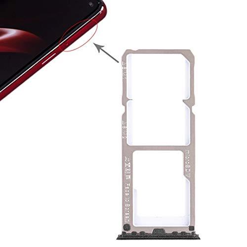 Teléfonos Móviles piezas de repuesto Multifunción portátil ranura del sostenedor de la bandeja de tarjeta SIM Adaptador 2 x tarjeta SIM bandeja de tarjeta SD Micro + Bandeja for OPPO A3 (Negro)