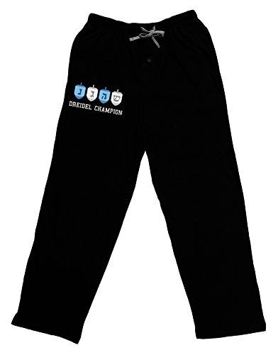Dreidel Champion Hanukkah Adult Lounge Pants - Black- Medium
