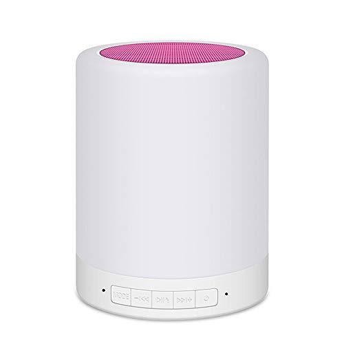 SMGPYHWYP Tragbares Bluetooth-Sprecherlicht, Nachtlicht des Kartenhandy-Computeraudios Led, Bunte Note Klopfte Tischlampe