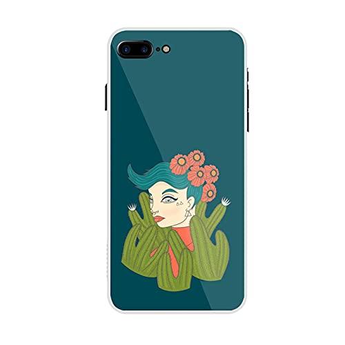 Generic Coperture del Telefono di Plastica Differenza Avere con Cute Cactus Compatibile per iPhone 6 Plus 6S Plus Ragazzo