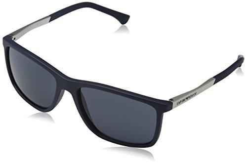 Emporio Armani 547487 Gafas de sol, Blue Rubber, 57 para Hombre