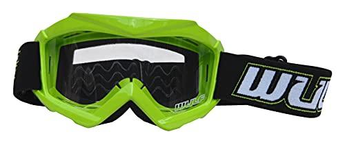 New Style Motorrad Brillen für Kinder WULFSPORT CUB Junior Motorrad-MX Roller Motocross ATV Quad Racing Sport Brillen One Size grün