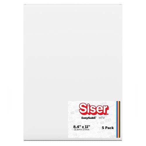 Siser EasySubli Sublimation Heat Transfer Vinyl 8.4 x 11 - 5 Pack