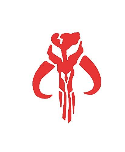 Pegatina de vinilo con símbolo de corazón de hierro, diseño de calavera de mito, color rojo, 5 x 4 pulgadas, NOK790