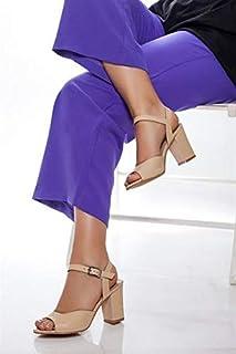 TARÇIN Hakiki Deri Klasik Günlük Kadın Topuklu Ayakkabı TRC71-0037