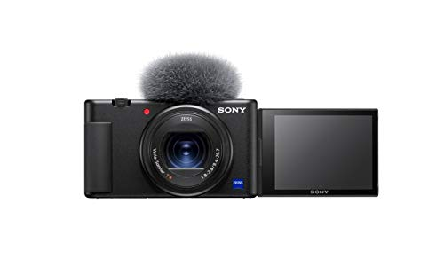 Sony Vlog-Kamera ZV-1 (Digitalkamera, 24-70mm, seitlich klappbares Selfie-Display für Vlogging & YouTube, 4K Video)