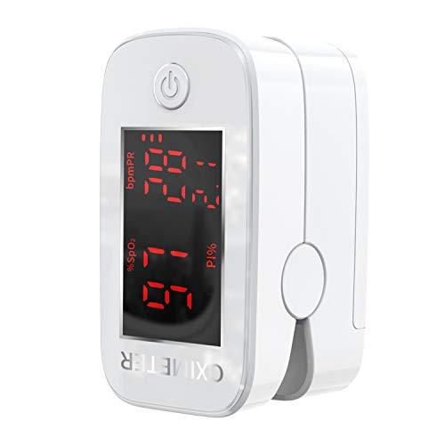 Scopri offerta per Pulsossimetro, Saturimetro da Dito, Misurazione Precisa Dell'Indice di Perfusione, Ossigeno nel Sangue, Frequenza Cardiaca, Saturimetro da Dito Professionale Bambini e Adulti con Schermo a LED