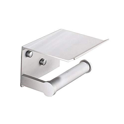 Portarollos Papel Higienico 1 ordenador papel soporte for teléfono creativo de montaje en pared de aluminio del espacio del rollo de papel sostenedor del tejido de la caja de teléfonos móviles toalla