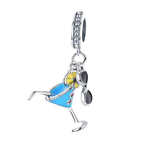 LIICC 925 sterling zilver bedeltje kleine verse zomer koude drank hanger dames ketting armband mode kralen sieraden accessoires dames