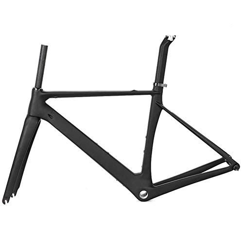 Carbono MTB Bicicleta Freno De Disco De 48CM/51CM/54CM/57CM BB92 UD Mate Carbono Set De Cuadro para Bicicleta De Montaña Bicicleta 142X12mm Disco,51CM