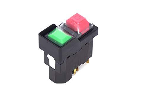 Interruptor empotrable, interruptor de tensión cero con UA TP3251 Uc 230 V/50 Hz, botones de presión pequeños, bobina ejecutada, cubierta de PVC, junta plana,'snap in'