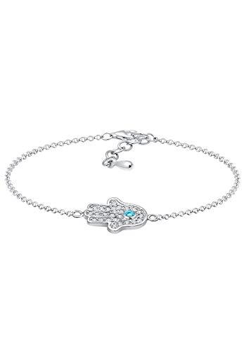 Elli Armband Hamsa Hand Zirkonia 925 Sterling Silber