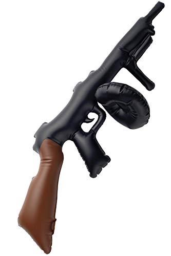Aufblasbare Thompson-Maschinenpistole Schwarz 75cm, One Size