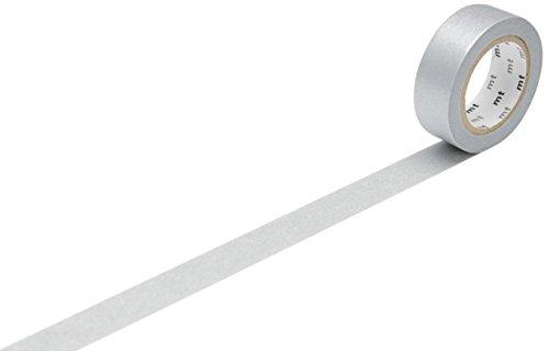 mt Washi Masking Tape Klebebandrolle silber