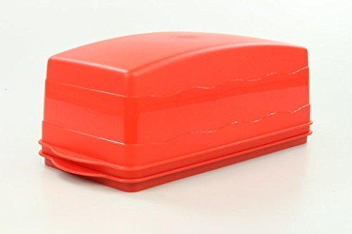 TUPPERWARE Junge Welle Kastenkuchenbehälter lachs-rot Kastenkuchen Kuchen