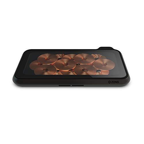 Zens Liberty 16 Spulen Dual Wireless Charging Pad mit Glasoberfläche – 2 x 15 W Ausgang – Unterstützt Apple und Samsung Fast Charge – funktioniert mit Allen Handys mit drahtlosem Laden