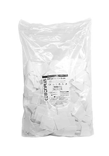 Cotton Plus Professional Pads Lot de 500 chevilles carrées 100% pur coton