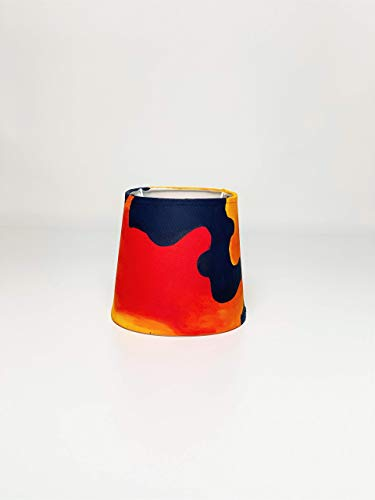 Lampenschirm bunt Upcycling Design handbemalt Design Kunst Handmade für Fassung E14