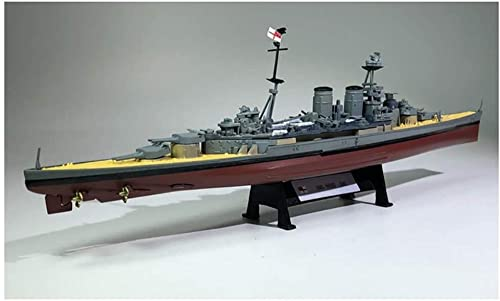 WENJZJ 1/1000 HMS Hood 1941Modelos de Acorazado de velero Vintage Modelos de Barco de Crucero de la Marina Real para Regalos de colección 26cm