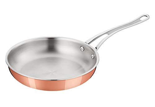 Tefal E49006 Jamie Oliver Triply Copper Bratpfanne, Dreischichtmaterial (edelstahl/Aluminium/Kupfer), 28 cm