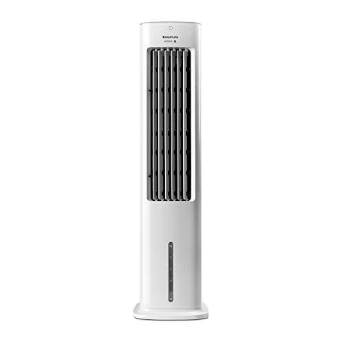 Taurus Snowfield Babel - Climatizador evaporativo, aire acondicionado portátil, ventila, refresca, humidifica, 3velocidades, 3modos, temporizador, depósito 5l extraíble, control remoto, 2 hielos, 85cm