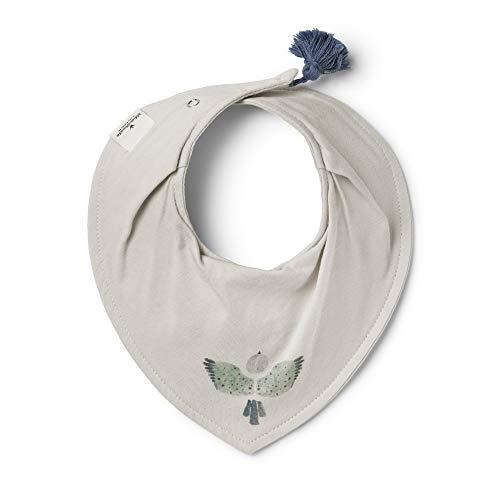 Elodie Details Baby Lätzchen Dreieckstuch Halstuch aus Baumwolle - DryBib 0-12m - Watercolor Wings, Grau