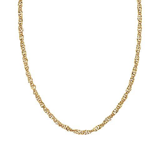 NOELANI Cadena para mujer, plata de ley 925 chapada en oro