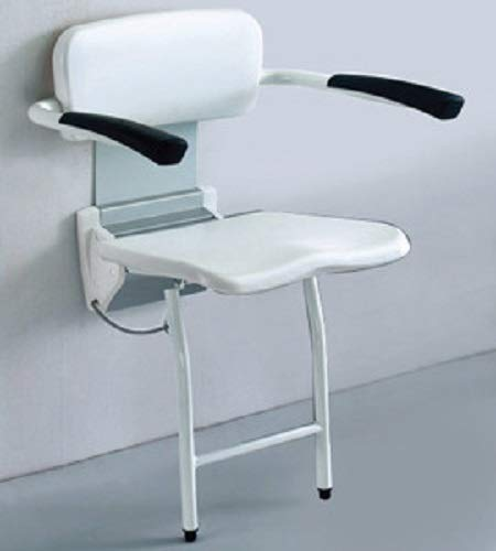 Adhome EB10 douchestoel met ergonomische zitting/wandbevestiging Easa met armleuningen/rugleuning