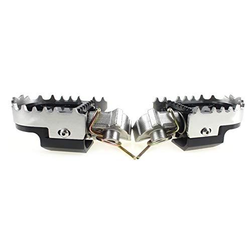 Motorcycle Reposapiés para B&MW R1200GS / F800GS / F700GS / F650GS para Y&amaha para H&Onda para K&TM Motorcycle Wide Enduro Pie Pegs descansa Footpegs Ajustables Pedal de Motocicleta