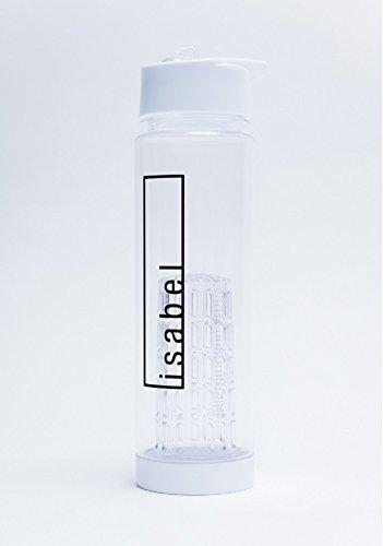 deinzigartig Trinkflasche mit Früchtebehälter - schwarz - kostenlose Personalisierung - #Lieblingsflasche - Wasserflasche - mit Fruchtsieb