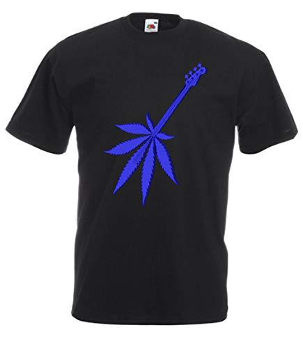 MFAZ Morefaz Ltd Camiseta de manga corta para hombre y mujer, de Ganja, con diseño de hojas, de rasta