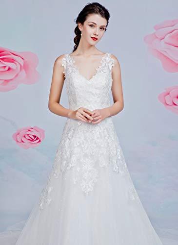 Brautkleid mit A-Linie-Silhouette und V-Ausschnitt - 6