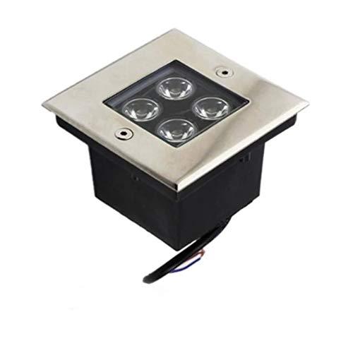 GFSD Luz Suelo LED for Exteriores Luces Subterráneas IP67 Impermeable Lámparas Led Enterradas Cuadradas Luz de Jardín AC85-265V Decoración navideña (Color : H, Size : 3W)