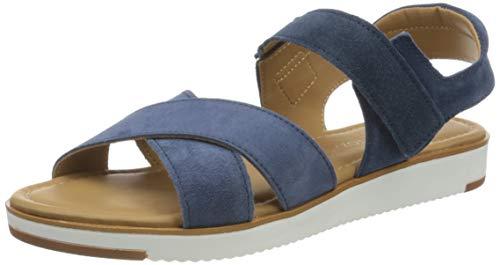 MARCO TOZZI 2-2-28189-24, Sandalia con Pulsera para Mujer, Azul (Denim 802), 39 EU