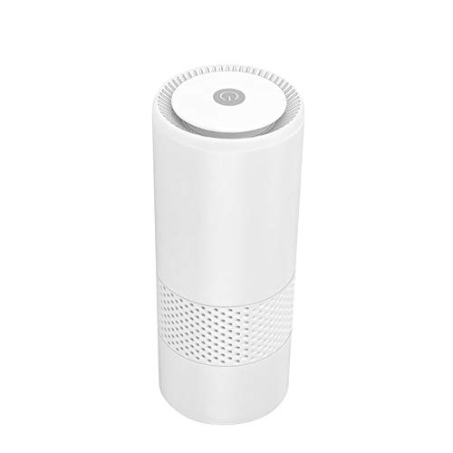 BECROWMEU Draagbare Luchtreiniger voor Thuis, Desktop USB Luchtreiniger, Auto Luchtionisator Verfrisser voor Sigarettenrook, Allergieën, Bacteriën, Koelkast
